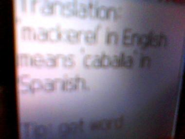 mackerel in English means caballa in Spanish